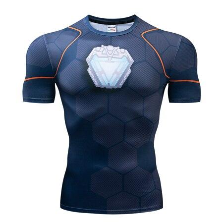 Мстители эндгейм футболка Квантовая царство компрессионная с коротким рукавом для мужчин тренажерный зал Спорт Фитнес окрашенные футболки спортивная одежда для мужчин - Цвет: DX-041