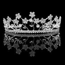 Hermosa Flor de La Hoja de Cristal Piedras Boda Nupcial Partido Prom Dama de honor Tiara Headbands HG00245