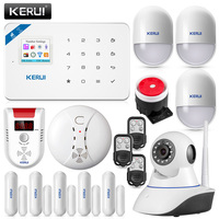 Original KERUI W18 Wifi GSM Burglar Alarm System IOS Android APP Control LCD GSM SMS Gas