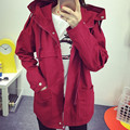 Women Trench Coat 2017 Korean Plus Size Loose Student Casual Trench Coats Spring Autumn BF College Style Outwear Female 6