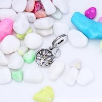 100 925 Sterling Silver FAMILY TREE W CUBIC ZIRCONIA Bead Charms Fit Original European Charm Bracelet