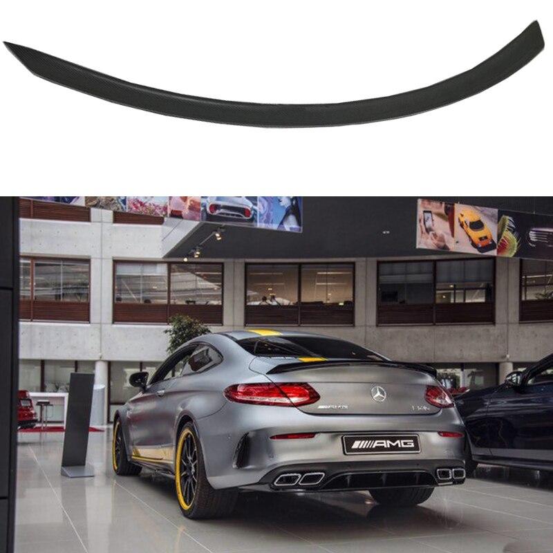 Pour Mercedes classe C W205 becquet fibre de carbone aileron de coffre arrière C200 C250 C300 C180 C350 coupé 2015-UP (coupé seulement)