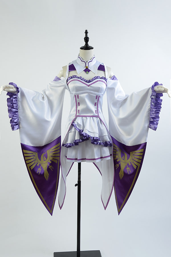Re:Zero/Re:Zero Life In A Different World From Zero Female Emilia/Satella Cosplay Costume Any Size Custom Made With Wig