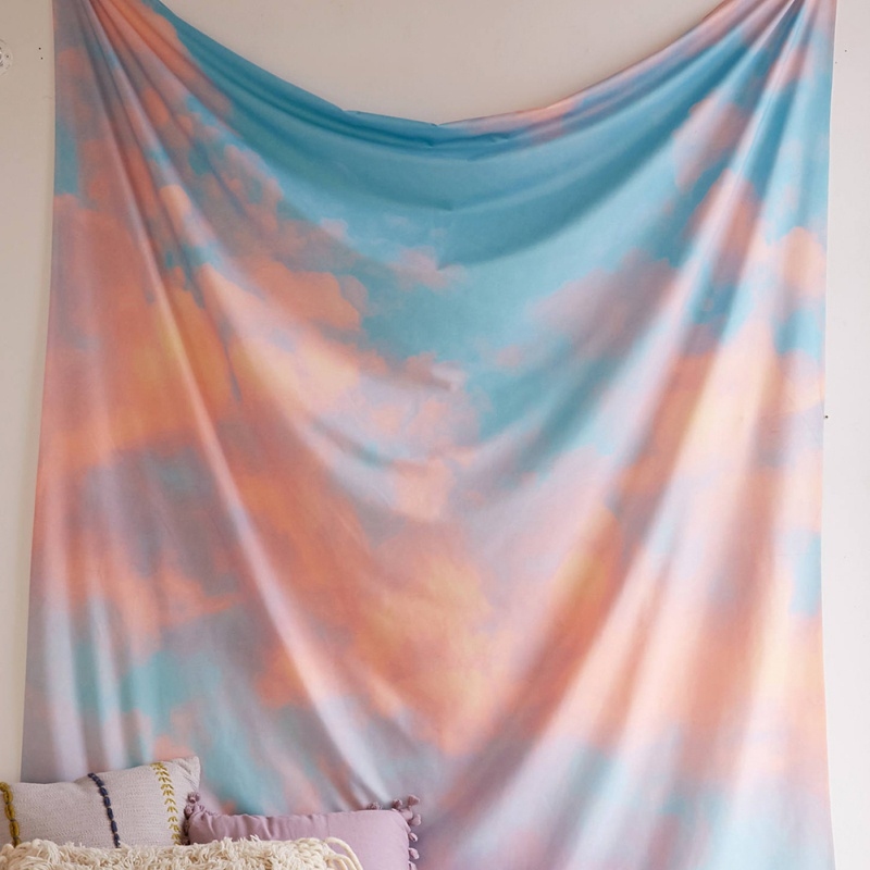 Modern Style Landscape Tapestry Portable Hanging Blanket Summer Beach Towels Tablecloth Home Decoration Tapestry 145*200cm