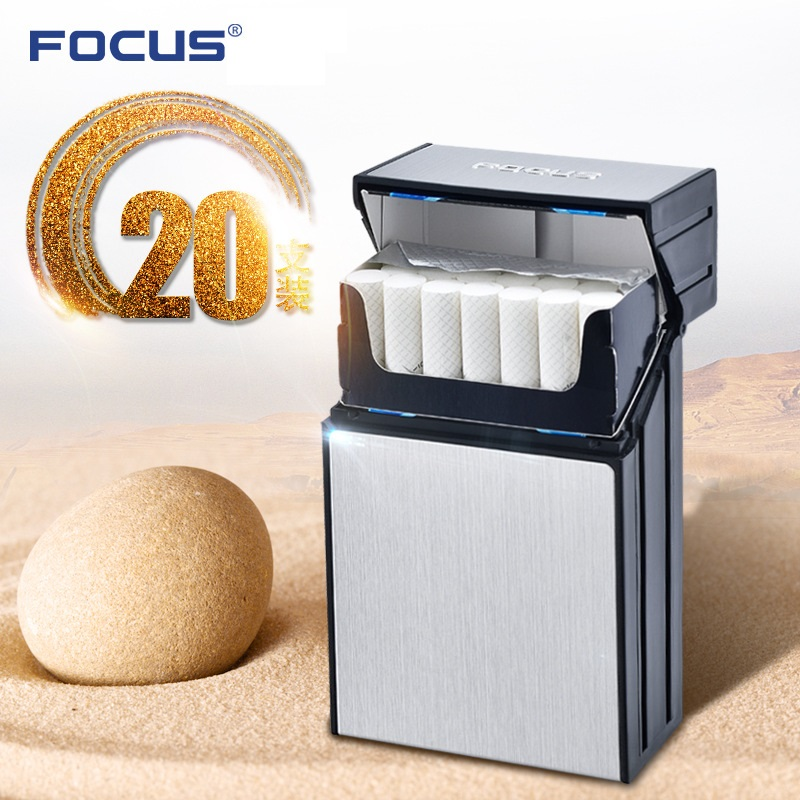 FOCUS 20pcs Cigarette Holder Case Damp Proof ABS Plastic Cigaret Box Smoking Accessary U ...