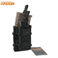 EXCELLENT ELITE SPANKER EDC Outdoor Tactical Double M4 Magazine Pouch Molle Buckle Hunting Military Clip Accessory