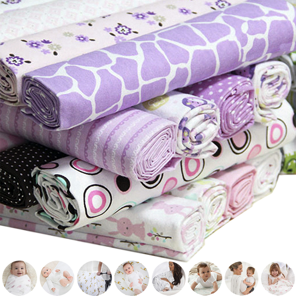 4Pcs Multifunction Muslin Cotton Baby Swaddles Newborn Blankets Bath Gauze Gift Infant Wrap Sleepsack Stroller Cover Game Mat