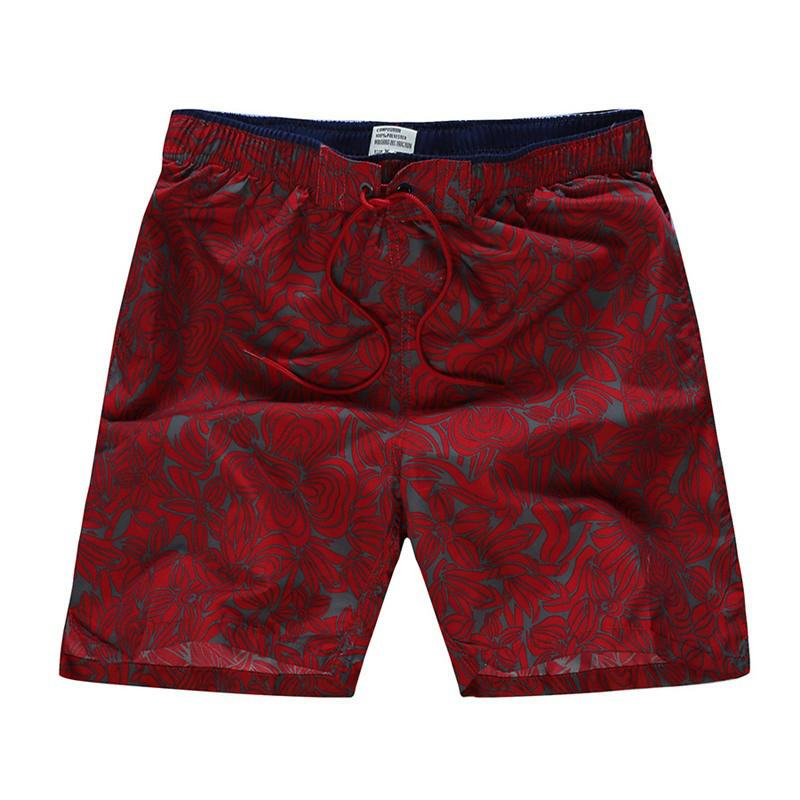 Mortonpart Summer   Shorts   Lace-up Thin Breathable Beach   Shorts   Male Quick Dry Printing   Board     Shorts   Mens Gym Sport Swim   Shorts