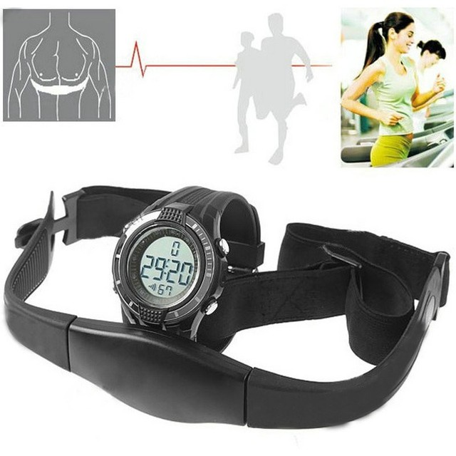 Relojes Hombre 2016 Wireless Heart Rate Monitor Watch Fitness Sport Watches Men Chest Strap Outdoor Cycling Climbing Orologio