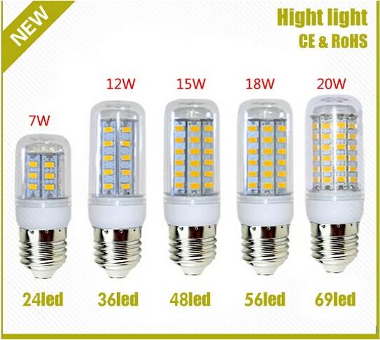 Led Licht Warmweiss E27 Led Lampen 7 Watt 9 Watt 12 Watt 15 Watt 18