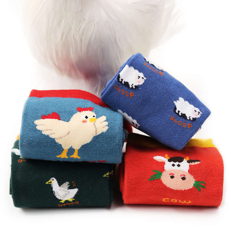 2018 Cows,Goose,Chicken,Sheep Socks Women Unisex Hipster Socks Cotton Short Cozy Farm Animals Cute Socks Female Men Zoo Pop Soks