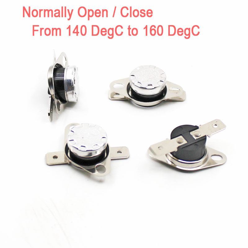 KSD301 N//O 5 C 10A Normally Open Temperature Switch Bimetal Disc Klixon