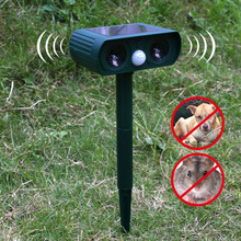 Solar Ultrasonic Electron Repeller Device Control Snake Mole Mouse Mice Insect