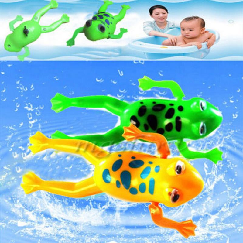 Cute Toy Wind Up Swim Frogs Kids Toy Swimming Frog Battery Operated Pool Bathrandom Color In