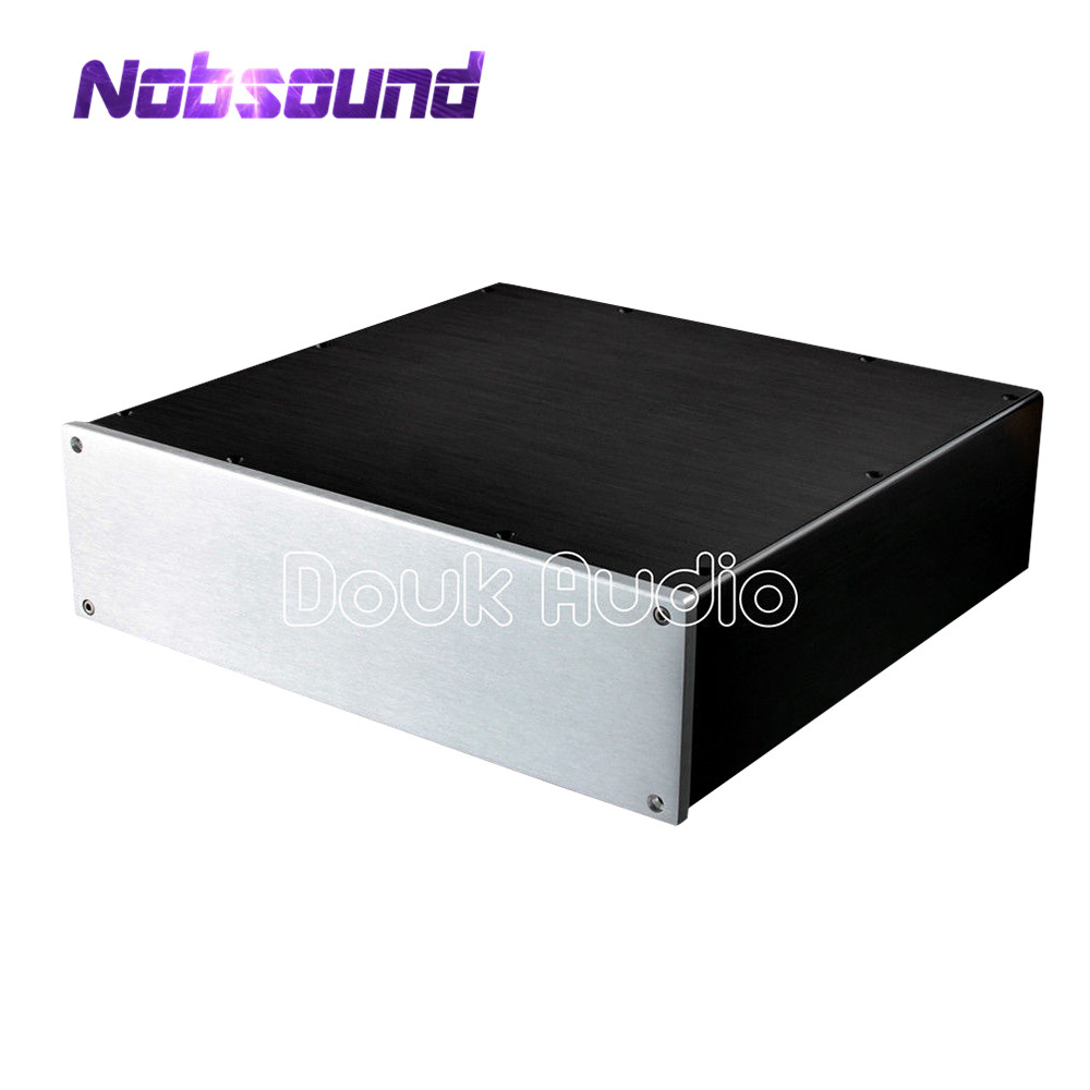 Nobsound Aluminium Case Amplifier Enclosure Power Amp Chassis DAC Box W320 H92 D308 mm