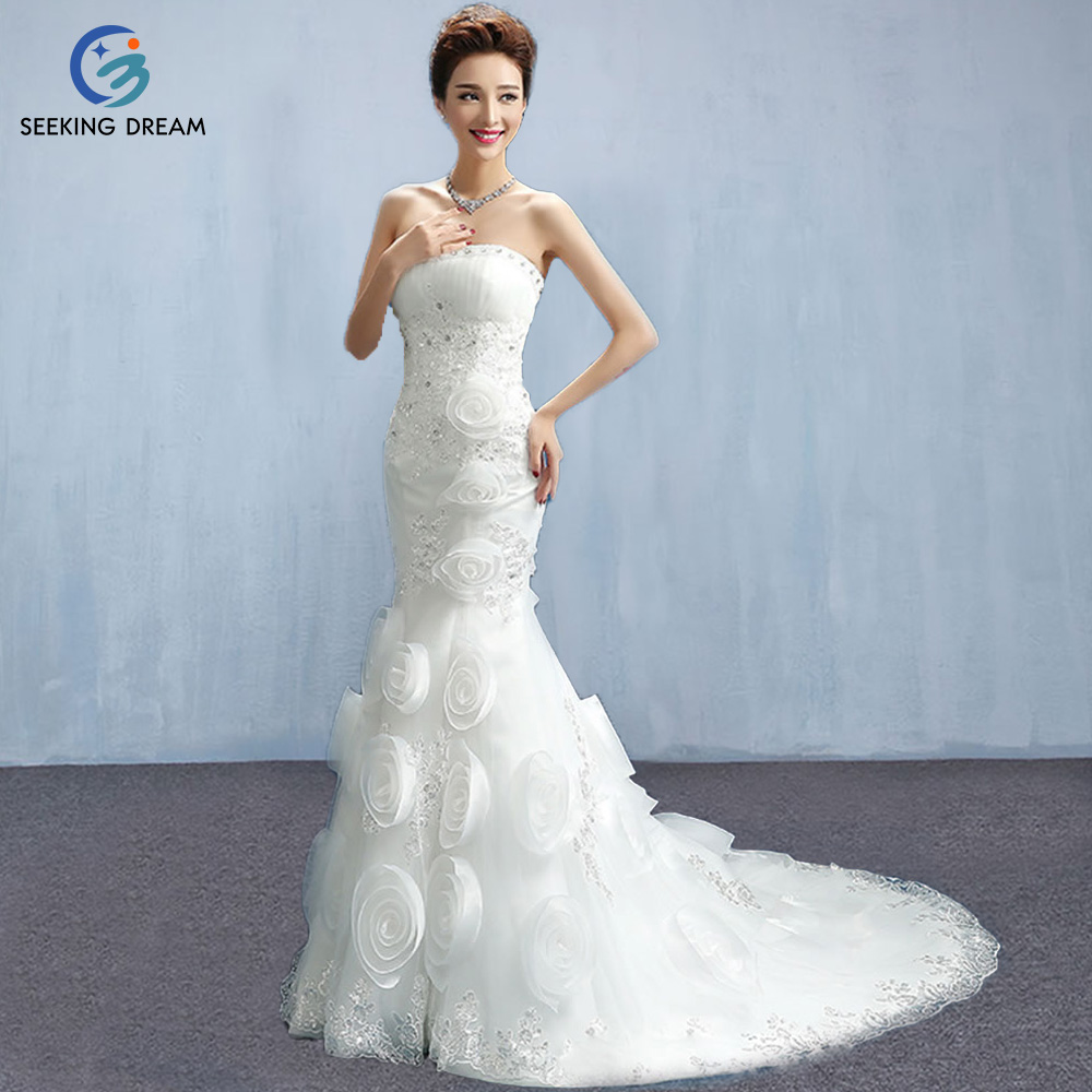 Dw2815 Princess Ball Gown Wedding Dresses 2017 Lace With: 2017 New Style Strapless Ivory White Elegant Wedding Dress