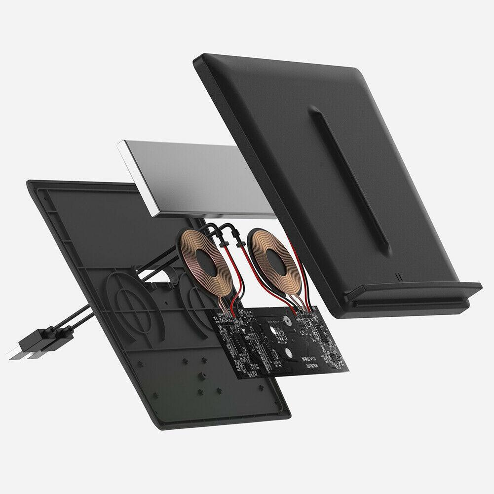 HOT voiture chargeur sans fil Console centrale double téléphones de charge Portable pour Tesla modèle 3 BUS66