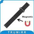 18mm correa de piel genuina correa de liberación rápida para huawei watch/fit honor s1 banda imán hebilla de pulsera pulsera de la correa negro