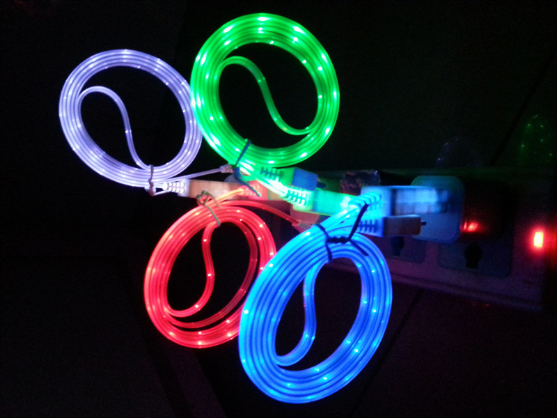 Led Light Iphone Charger