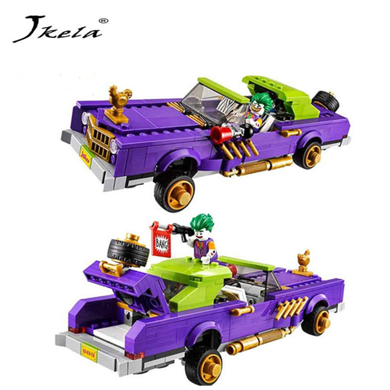[Hot] Batman Movie The Joker Notorious Lowrider Harley Quinn Building Block Toys Compatible Legoingly Batman 1pc super heroes catwoman robin joker batman movie figures poison harley quinn building blocks compatible with legoingly batman