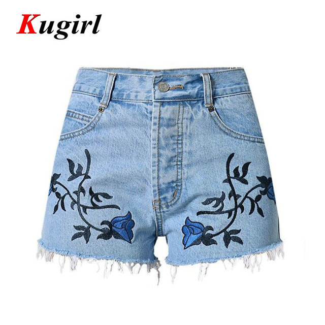 2017 Fashion casual Shorts jeans woman Embroidery Shorts jeans for women jeans  femme Short denim jean 9498a09d524