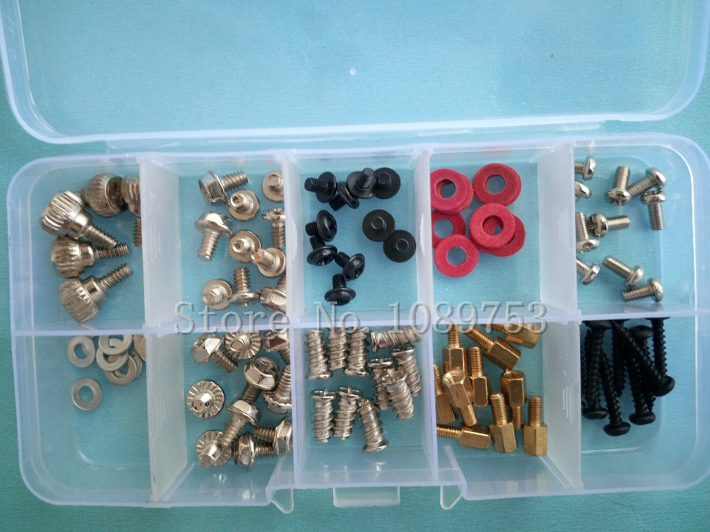 95Pcs Desktop Computer Chassis Screw PC Motherboard Screws Washer With Box