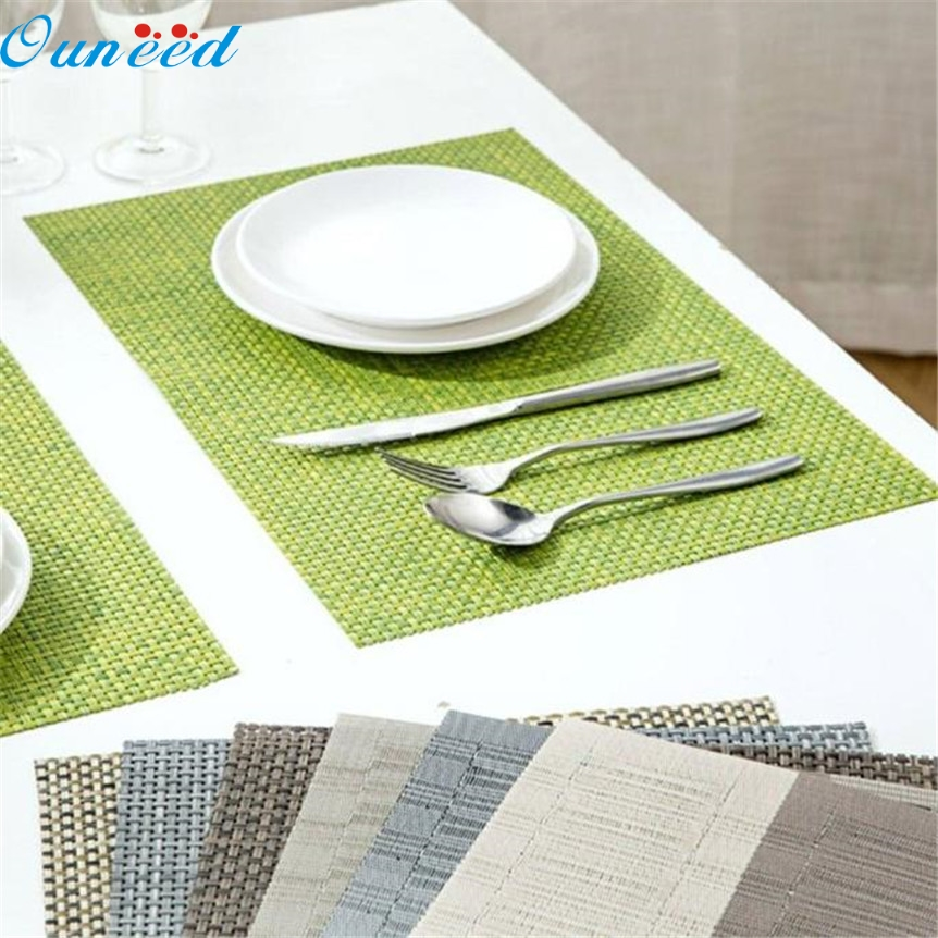 Home Wider Ouneed PVC Quick-drying Placemats Insulation Mats Coasters Kitchen Dining Table Oct1027 Drop Shipping