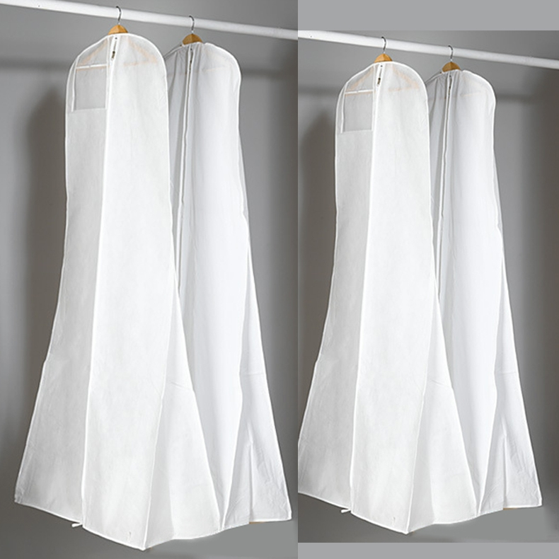 180cm Long High Quality Train Wedding Dess Dust Bag Evening Dress Cover Bridal Garment Storage In Bags From Home Garden On