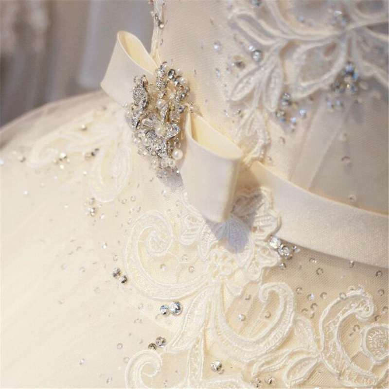 Image 5 - Tulle Lace  Floor Length  Ball Gown Wedding dress Chapel Train  Lace up  Beading  Bridal Gown Custom made-in Wedding Dresses from Weddings & Events