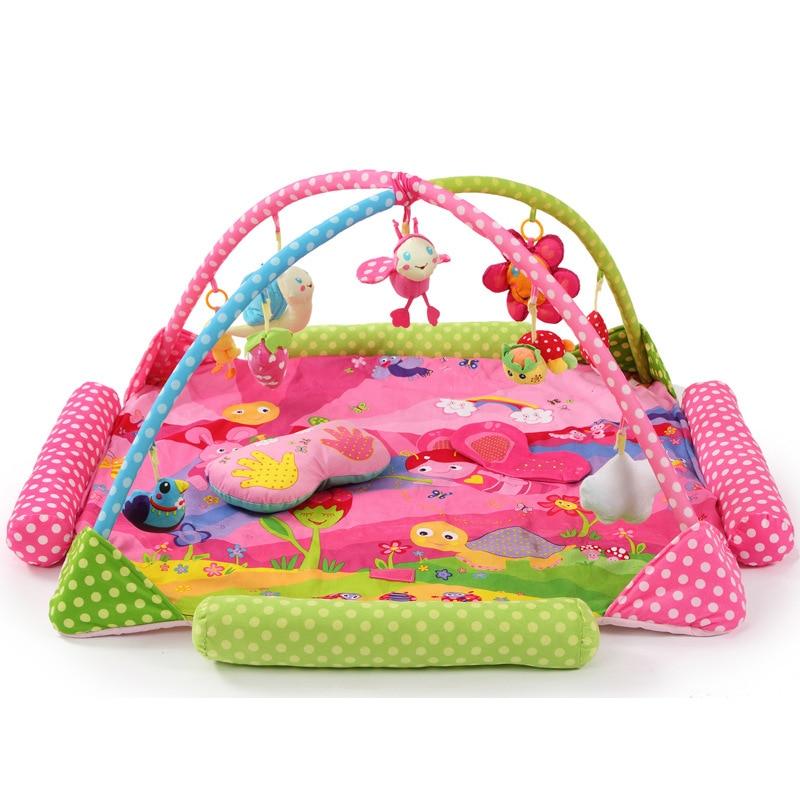 все цены на Rabbit Bee Giraffe Elephant Lion Soft Play mat  Blanket Pad twin Fitness Frame Educational Baby Toys Climb Crawling Baby Gym онлайн