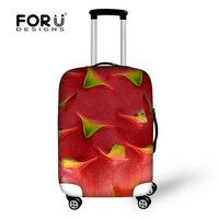 Travel Accessories Luggage Cover Protective For Trunk Case Covers Apply to 18''~30''Suitcase Fruits Prints Thick Elastic Cover