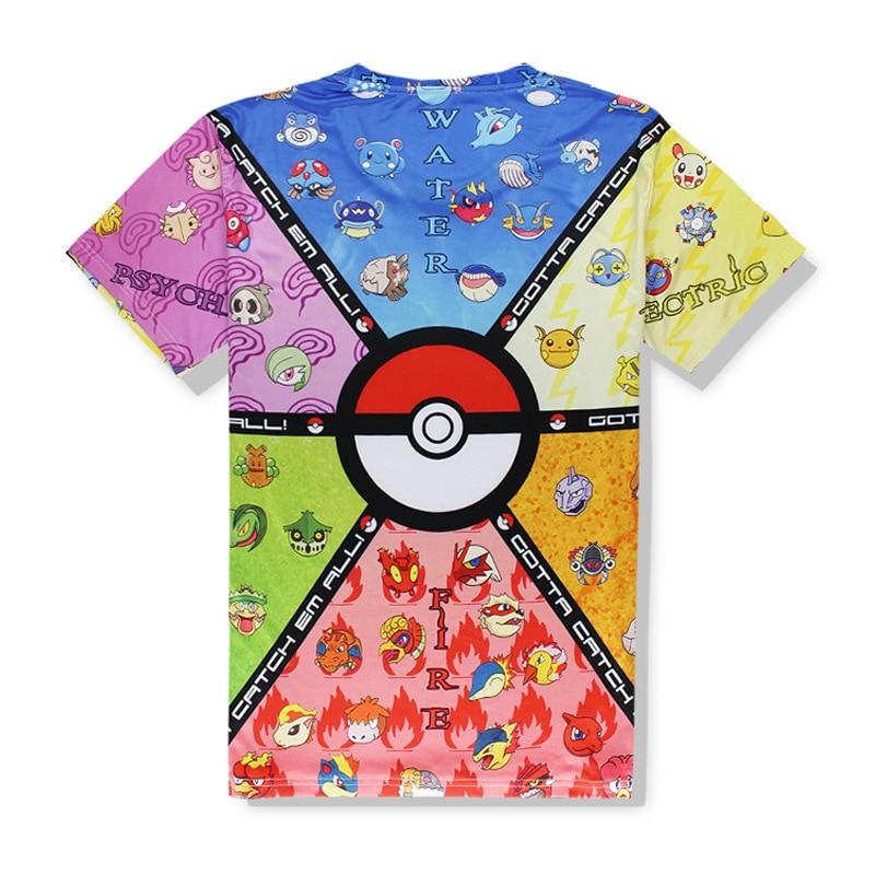High quality comfortable mens t-shirts pokemon print t shirt men breathable pokemon mans T-shirt sexy yoga fitness gym men