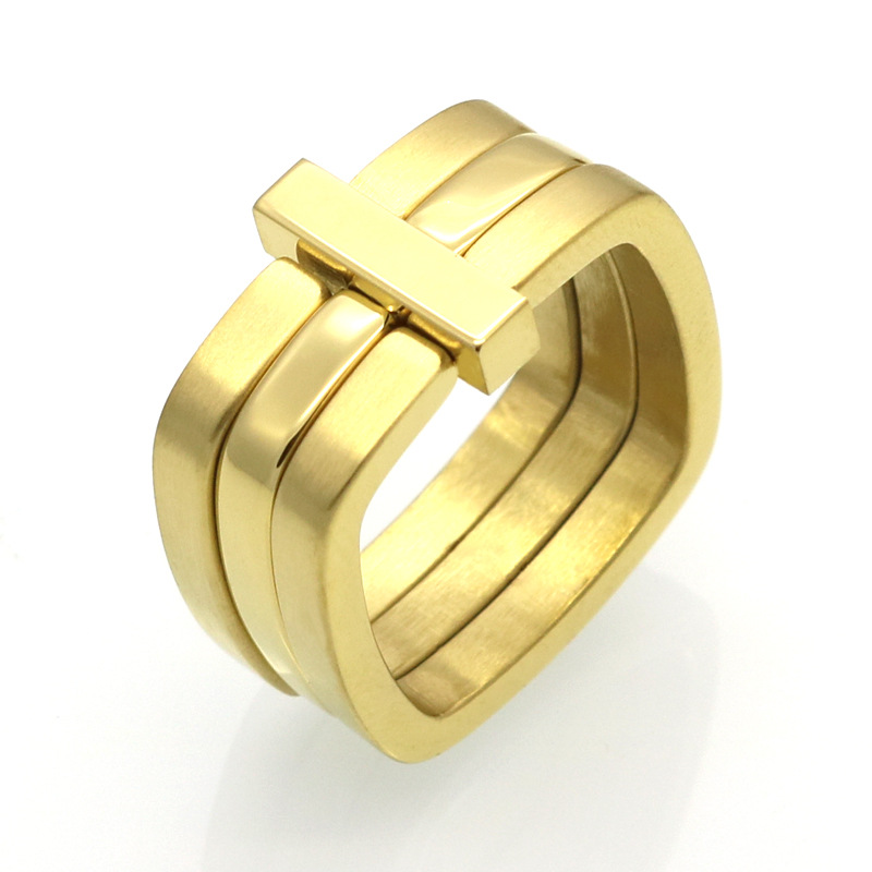 Tyme Classic Luxury Famous Brand Love Ring For Women/Men Gold Color Fashion Lovers men Jewelry for couple rings