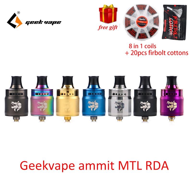 Original Geekvape Ammit MTL RDA Atomizer for aegis legend 200w mod 12 airflow adjustment Leak proof