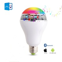 DBF E27 10W RGB LED Bulb Bluetooth Lighting Lamp Colorful Dimmable Speaker Lights Bulb With