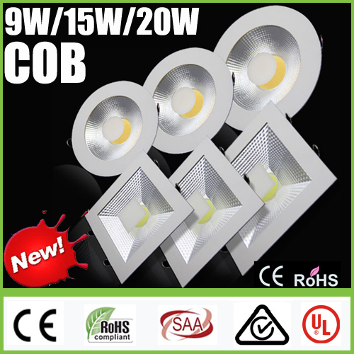 CREE 9 Вт 15 Вт 20 Вт удара ультратонкие светодиодный Панель огни 85-265 В светильники затемняемые светильник Встраиваемые потолка вниз огней ламп...