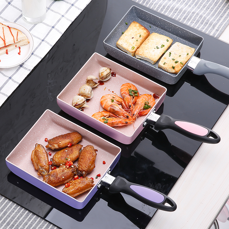 Japanese class frying omelet Fried eggs Square pan High-quality aluminum non-stick Multi color general use