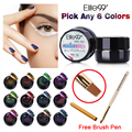 Elite99 Any 6pcs 3D Gel UV Glitter Chameleon Changing Color Gel Nail Polish 5ml Chameleon Luminous Gel With Brush Painting Pen