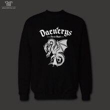 ゲーム の魂ハウス targaryen印章daenerys母ドラゴン男性ユニ セックス 360 グラム sweatershirt 82%綿フリース の内側送料無料