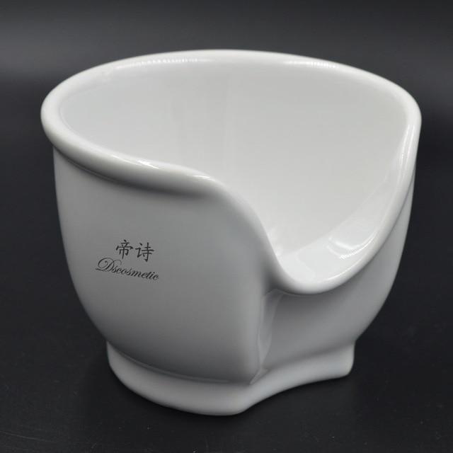High quality white ceramic shaving bowl shaving mug
