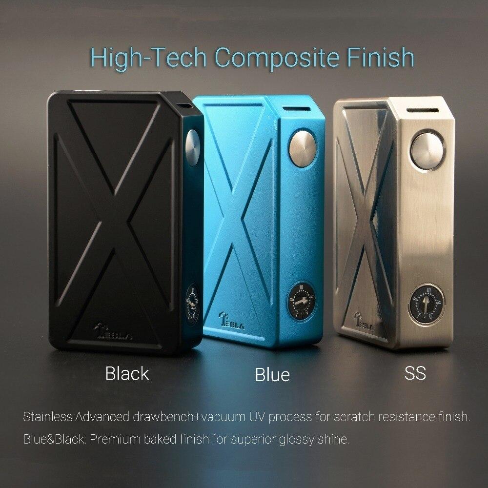 D'origine TESLACIGS Authentique Tesla Envahisseur III boîte mod vaporisateur 240 W double 18650 batterie vaporisateur mod électronique cigarrate