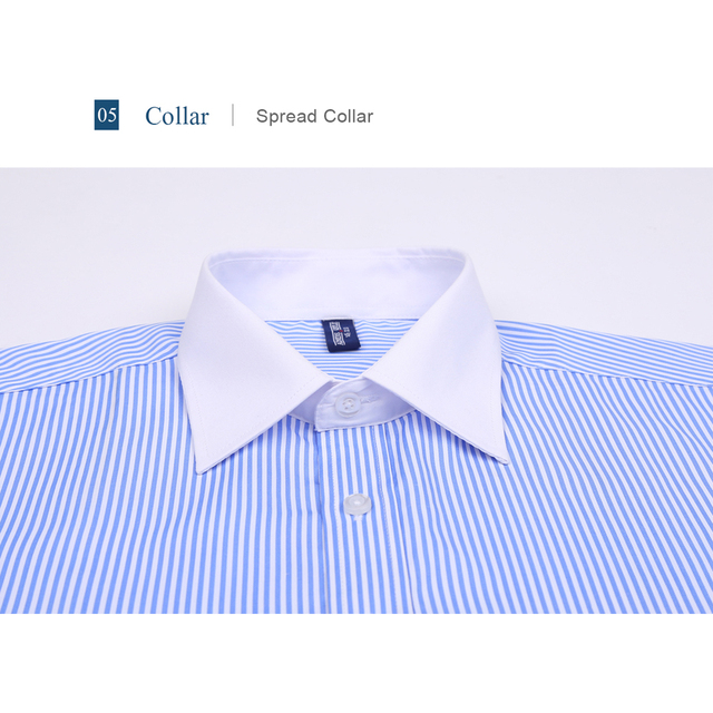 9XL 7XL 6XL Striped Men French Cufflinks Casual Dress Shirt Long Sleeved White Collar Design Style Mens French Cuff Dress Shirts 1