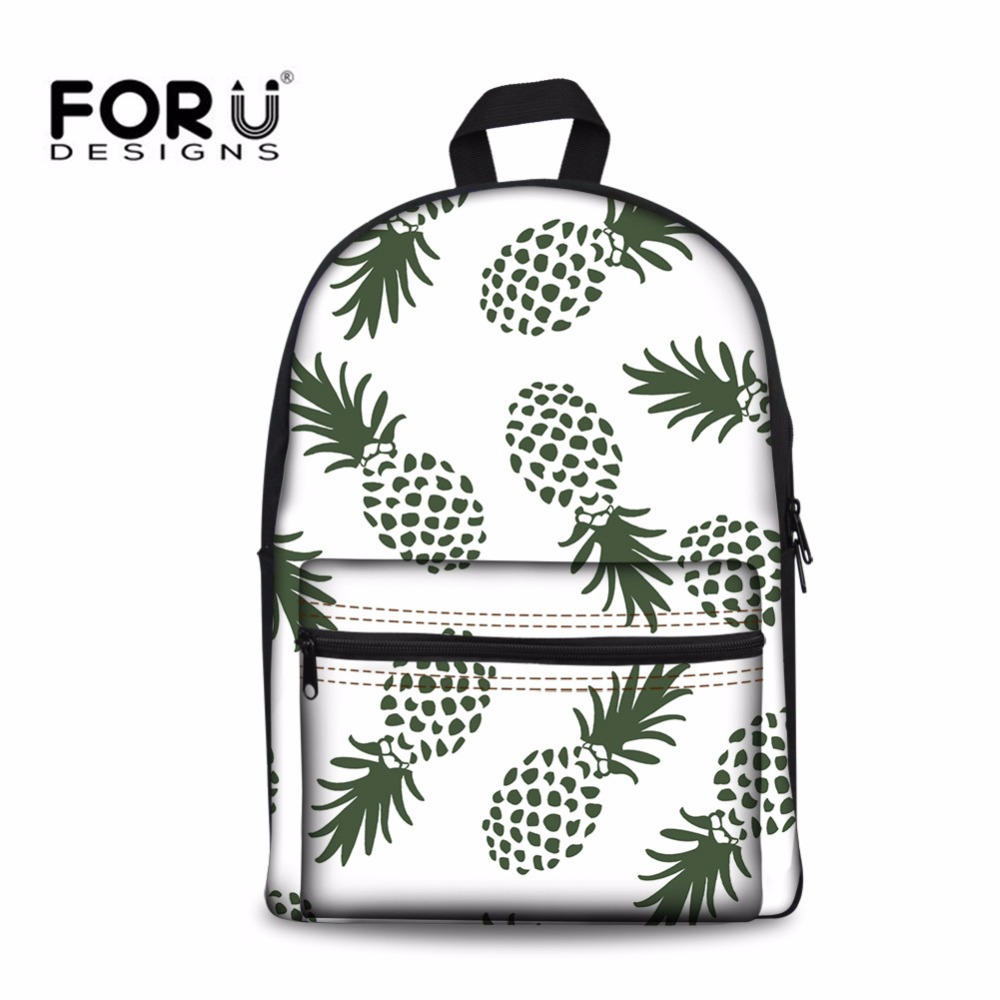 FORUDESIGNS Pineapple Backpack Schoolbag Youth School Bags for Teenager Girls Casual Canvas Children Book Bag Fresh Hot Mochila
