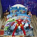 Disney 3d Мстители реактивная печать  Комплект постельного белья для мальчиков  одиночный  полный  двойной  Королевский размер  кровать  линия  д...
