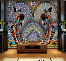 3D murals creative ethnic style pattern hand-painted TV background wall professional production mural photo wallpaper