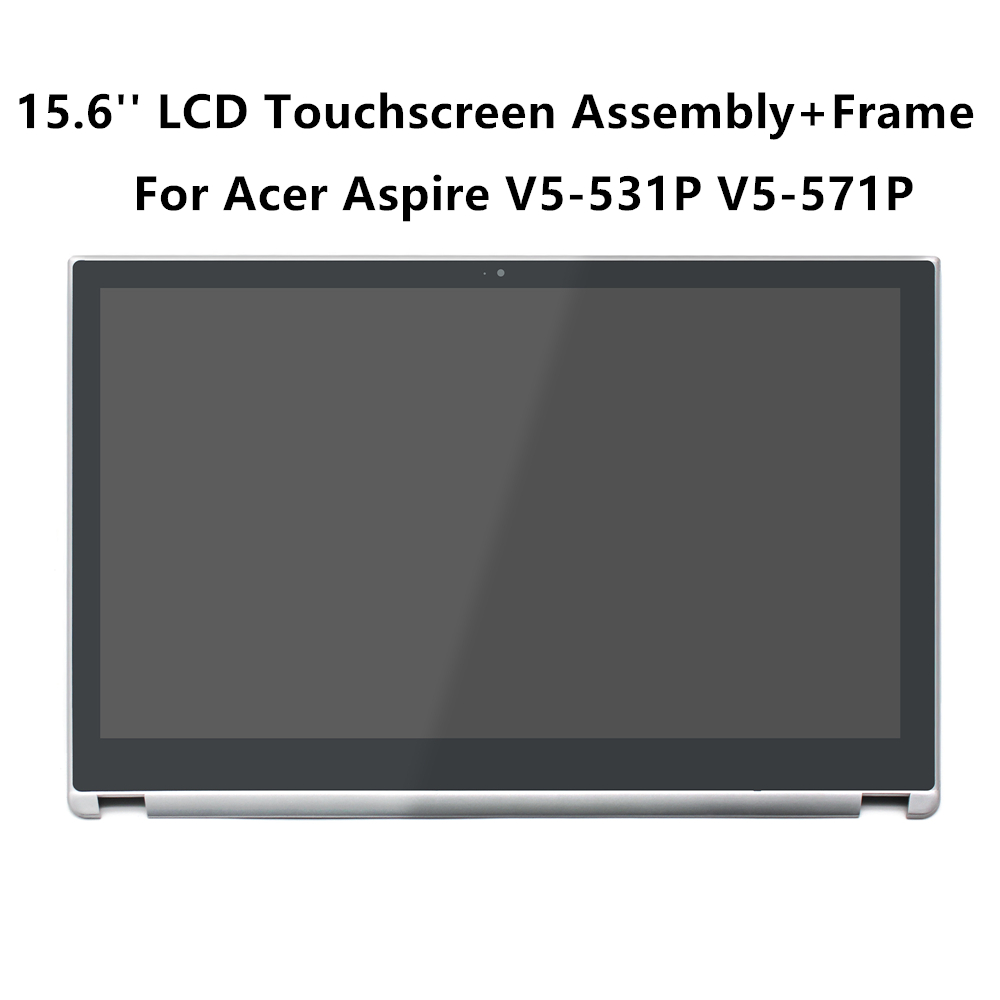 FTDLCD 15 6 LCD Touchscreen Digitizer Assembly with Frame B156XTN03 1 For font b Acer b