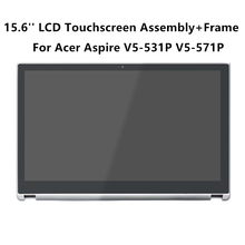 "FTDLCD 15.6""LCD Touchscreen Digitizer Assembly with Frame B156XTN03.1 For Acer Aspire V5-531P V5-531PG V5-571P V5-571PG Sliver"