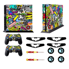 Bombing Vinyl Skin Decal For PS4 Skin Sticker for Sony PlayStation 4 Console Controller Skins Led Light Bar For PS4+Thumbgrips(China)