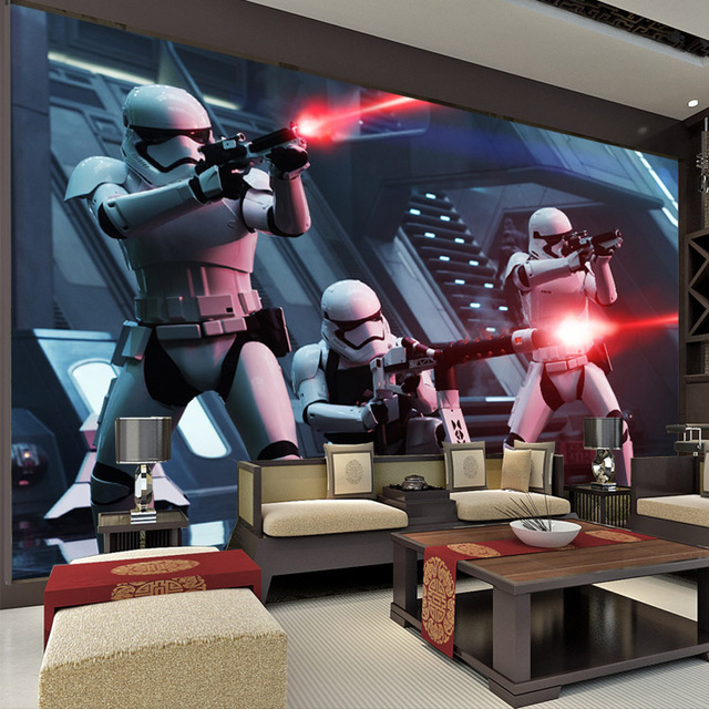 Star Wars Photo Wallpaper Storm Troop Wallpaper Custom 3D Wall Murals Boys  Kids Bedroom Living Room Part 41