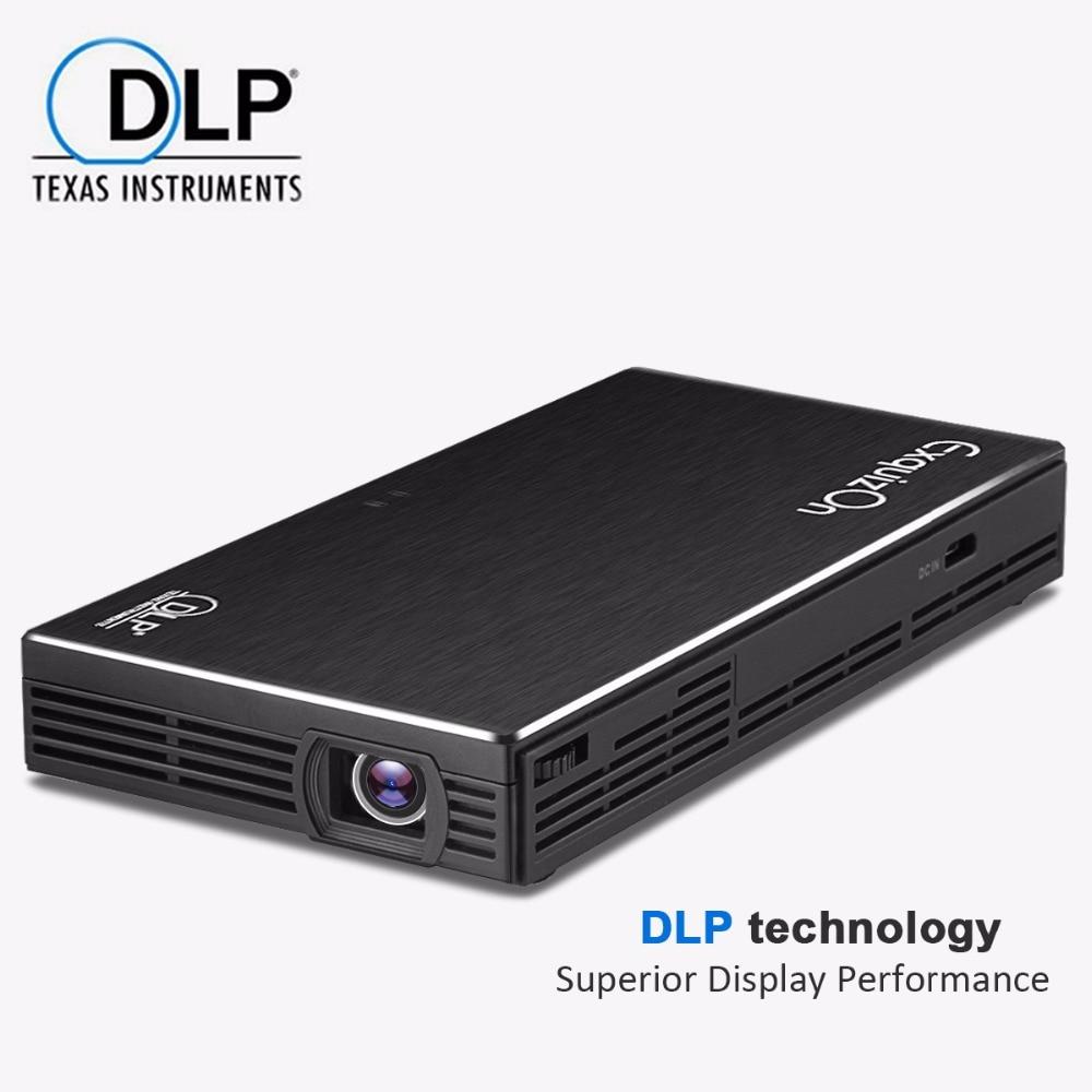 Buy exquizon hdp100s pocket dlp home for Pocket projector best buy